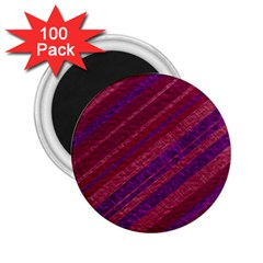 Maroon Striped Texture 2 25  Magnets (100 Pack)  by Mariart