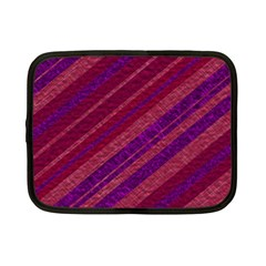 Maroon Striped Texture Netbook Case (small)  by Mariart