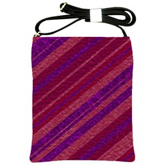 Maroon Striped Texture Shoulder Sling Bags by Mariart