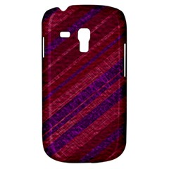 Maroon Striped Texture Galaxy S3 Mini by Mariart