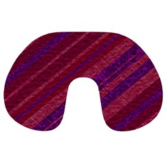 Maroon Striped Texture Travel Neck Pillows by Mariart
