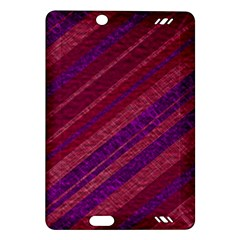Maroon Striped Texture Amazon Kindle Fire Hd (2013) Hardshell Case by Mariart
