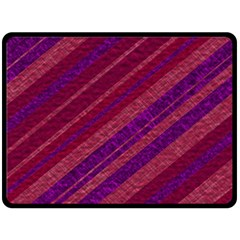 Maroon Striped Texture Double Sided Fleece Blanket (large)  by Mariart