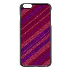 Maroon Striped Texture Apple Iphone 6 Plus/6s Plus Black Enamel Case by Mariart