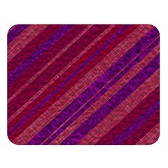 Maroon Striped Texture Double Sided Flano Blanket (large)  by Mariart