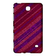 Maroon Striped Texture Samsung Galaxy Tab 4 (7 ) Hardshell Case  by Mariart