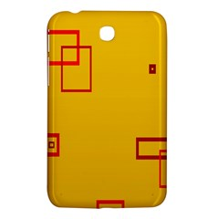 Overlap Squares Orange Plaid Red Samsung Galaxy Tab 3 (7 ) P3200 Hardshell Case  by Mariart