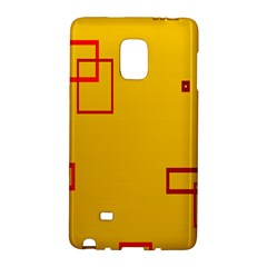 Overlap Squares Orange Plaid Red Galaxy Note Edge by Mariart