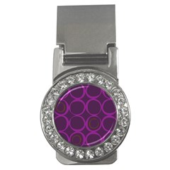 Original Circle Purple Brown Money Clips (cz)  by Mariart