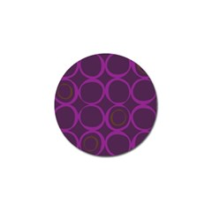 Original Circle Purple Brown Golf Ball Marker by Mariart