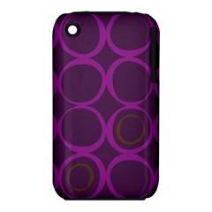 Original Circle Purple Brown Iphone 3s/3gs by Mariart