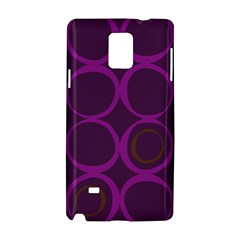 Original Circle Purple Brown Samsung Galaxy Note 4 Hardshell Case by Mariart