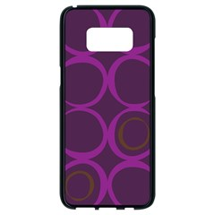 Original Circle Purple Brown Samsung Galaxy S8 Black Seamless Case by Mariart