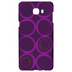 Original Circle Purple Brown Samsung C9 Pro Hardshell Case  by Mariart