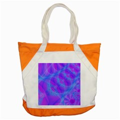 Original Purple Blue Fractal Composed Overlapping Loops Misty Translucent Accent Tote Bag by Mariart