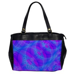 Original Purple Blue Fractal Composed Overlapping Loops Misty Translucent Office Handbags by Mariart
