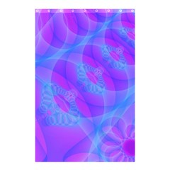Original Purple Blue Fractal Composed Overlapping Loops Misty Translucent Shower Curtain 48  X 72  (small)  by Mariart