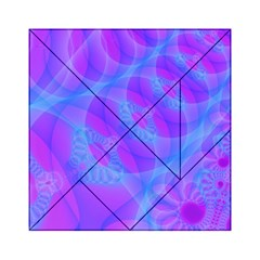 Original Purple Blue Fractal Composed Overlapping Loops Misty Translucent Acrylic Tangram Puzzle (6  X 6 ) by Mariart