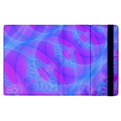 Original Purple Blue Fractal Composed Overlapping Loops Misty Translucent Apple Ipad 2 Flip Case by Mariart