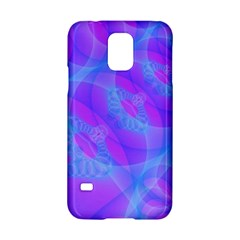 Original Purple Blue Fractal Composed Overlapping Loops Misty Translucent Samsung Galaxy S5 Hardshell Case  by Mariart
