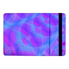 Original Purple Blue Fractal Composed Overlapping Loops Misty Translucent Samsung Galaxy Tab Pro 10 1  Flip Case by Mariart