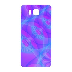 Original Purple Blue Fractal Composed Overlapping Loops Misty Translucent Samsung Galaxy Alpha Hardshell Back Case by Mariart
