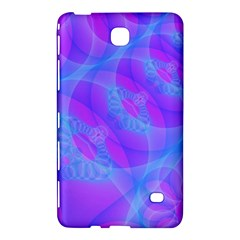 Original Purple Blue Fractal Composed Overlapping Loops Misty Translucent Samsung Galaxy Tab 4 (8 ) Hardshell Case  by Mariart