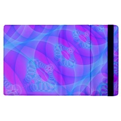 Original Purple Blue Fractal Composed Overlapping Loops Misty Translucent Apple Ipad Pro 12 9   Flip Case by Mariart