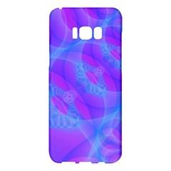Original Purple Blue Fractal Composed Overlapping Loops Misty Translucent Samsung Galaxy S8 Plus Hardshell Case