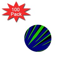 Rays Light Chevron Blue Green Black 1  Mini Buttons (100 Pack)  by Mariart