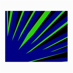 Rays Light Chevron Blue Green Black Small Glasses Cloth (2 Side) by Mariart