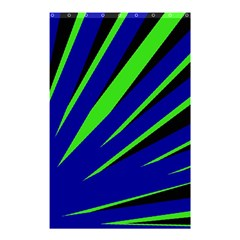 Rays Light Chevron Blue Green Black Shower Curtain 48  X 72  (small)  by Mariart