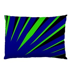 Rays Light Chevron Blue Green Black Pillow Case (two Sides) by Mariart