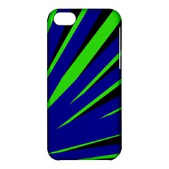 Rays Light Chevron Blue Green Black Apple Iphone 5c Hardshell Case by Mariart