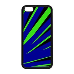 Rays Light Chevron Blue Green Black Apple Iphone 5c Seamless Case (black) by Mariart