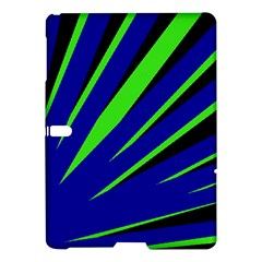 Rays Light Chevron Blue Green Black Samsung Galaxy Tab S (10 5 ) Hardshell Case  by Mariart