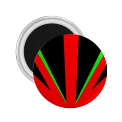 Rays Light Chevron Green Red Black 2 25  Magnets by Mariart