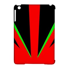 Rays Light Chevron Green Red Black Apple iPad Mini Hardshell Case (Compatible with Smart Cover) by Mariart