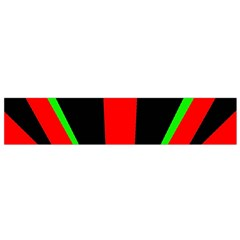 Rays Light Chevron Green Red Black Flano Scarf (small) by Mariart