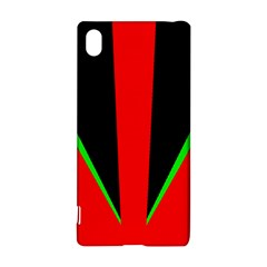 Rays Light Chevron Green Red Black Sony Xperia Z3+ by Mariart