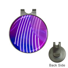 Rays Light Chevron Blue Purple Line Light Hat Clips With Golf Markers by Mariart