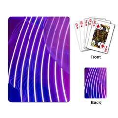 Rays Light Chevron Blue Purple Line Light Playing Card by Mariart