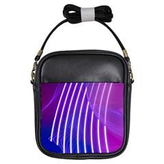 Rays Light Chevron Blue Purple Line Light Girls Sling Bags by Mariart
