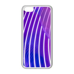 Rays Light Chevron Blue Purple Line Light Apple Iphone 5c Seamless Case (white) by Mariart