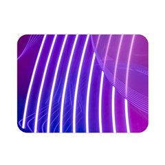 Rays Light Chevron Blue Purple Line Light Double Sided Flano Blanket (mini)  by Mariart