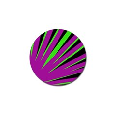 Rays Light Chevron Purple Green Black Golf Ball Marker (10 Pack) by Mariart