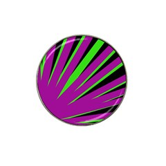 Rays Light Chevron Purple Green Black Hat Clip Ball Marker (10 Pack) by Mariart