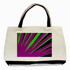 Rays Light Chevron Purple Green Black Basic Tote Bag by Mariart