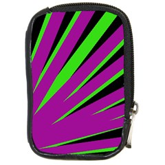 Rays Light Chevron Purple Green Black Compact Camera Cases by Mariart