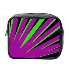 Rays Light Chevron Purple Green Black Mini Toiletries Bag 2 Side by Mariart